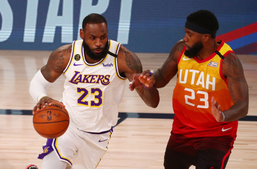 LeBron James #23 of the Los Angeles Lakers (Photo by Kim Klement - Pool/Getty Images)