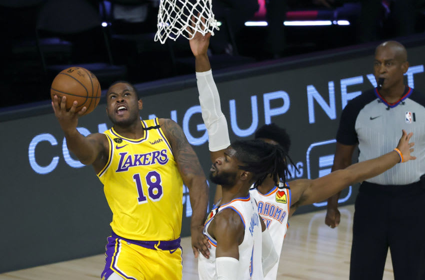 Dion Waiters #18 of the Los Angeles Lakers (Photo by Kevin C. Cox/Getty Images)
