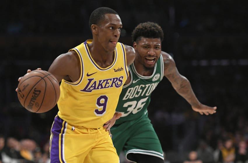 (Photo by John McCoy/Getty Images) - Rajon Rondo Los Angeles Lakers
