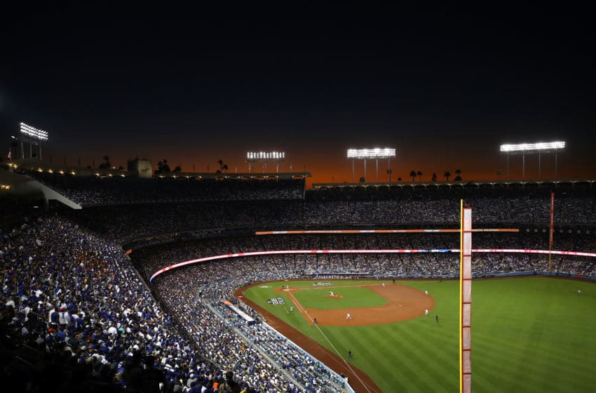 LOS ANGELES, CA - OCTOBER 24: A general view as Clayton Kershaw (Photo by Ezra Shaw/Getty Images)