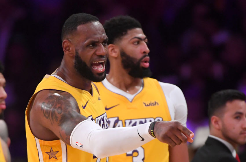 LOS ANGELES, CA - DECEMBER 25: LeBron James #23 argues a foul call in the game against the Los Angeles Clippers at Staples Center on December 25, 2019 in Los Angeles, California. NOTE TO USER: User expressly acknowledges and agrees that, by downloading and/or using this Photograph, user is consenting to the terms and conditions of the Getty Images License Agreement. (Photo by Jayne Kamin-Oncea/Getty Images)