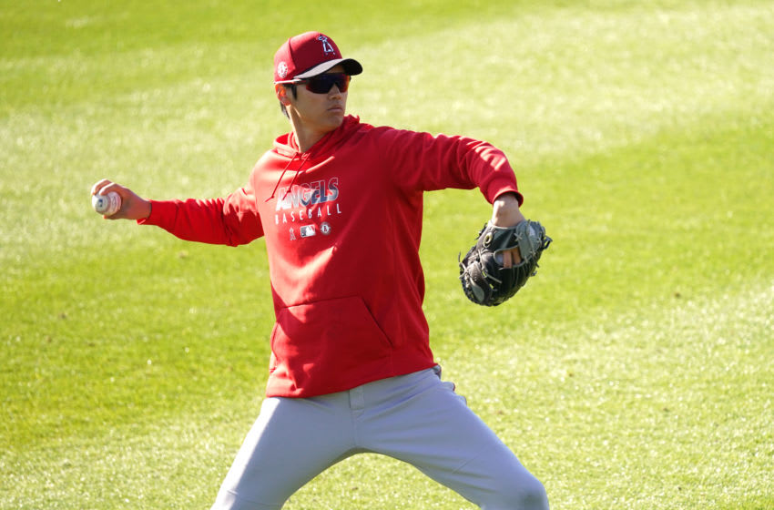TEMPE, AZ - FEBRUARY 29: Shohei Ohtani of the Los Angeles Angels in action during a Los Angeles Angels spring training on February 29, 2020 in Tempe, Arizona. (Photo by Masterpress/Getty Images)