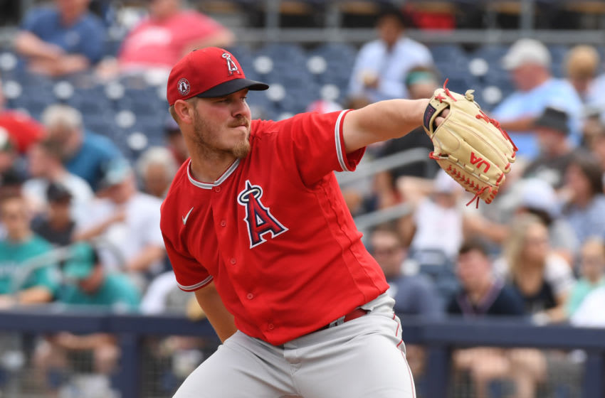 PEORIA, ARIZONA - MARCH 10: Dylan Bundy #37 of the Los Angeles Angels delivers a pitch during a spring training game against the Seattle Mariners at Peoria Stadium on March 10, 2020 in Peoria, Arizona. (Photo by Norm Hall/Getty Images)