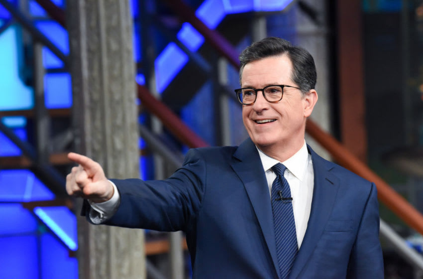 The Late Show with Stephen Colbert during Thursday's March 7, 2019 show. Photo: Scott Kowalchyk/CBS ©2019 CBS Broadcasting Inc. All Rights Reserved.