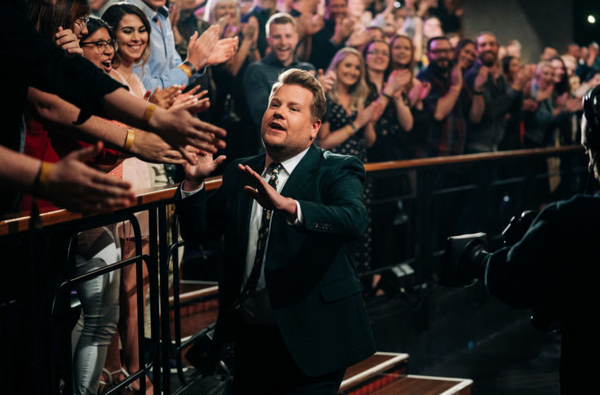 The Late Late Show with James Corden airing Wednesday, April 10, 2019, with guests Sara Bareilles and Nikolaj Coster-Waldau. Photo: Terence Patrick/CBS ©2019 CBS Broadcasting, Inc. All Rights Reserved