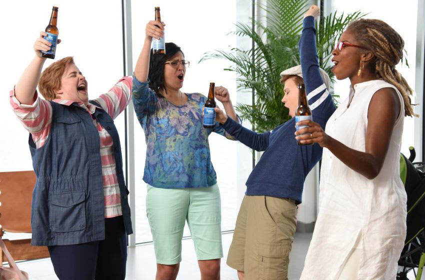 Aidy Bryant, Cecily Strong, Kate McKinnon, and Sasheer Zamata for Saturday Night Live (Photo by: Caroline De Quesada/NBC)