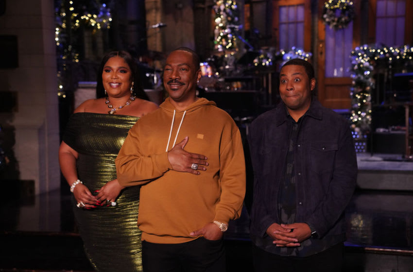 Lizzo, Eddie Murphy, and Kenan Thompson (Photo by: Rosalind O'Connor/NBC)