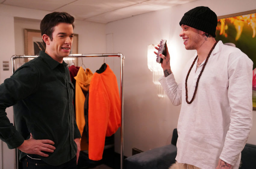 John Mulaney and Pete Davidson for Saturday Night Live (Photo by: Rosalind O'Connor/NBC)