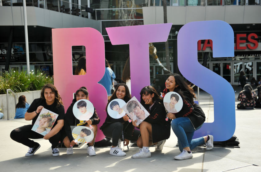 BTS fans in Los Angeles, CA (Photo by Rachel Luna/Getty Images)