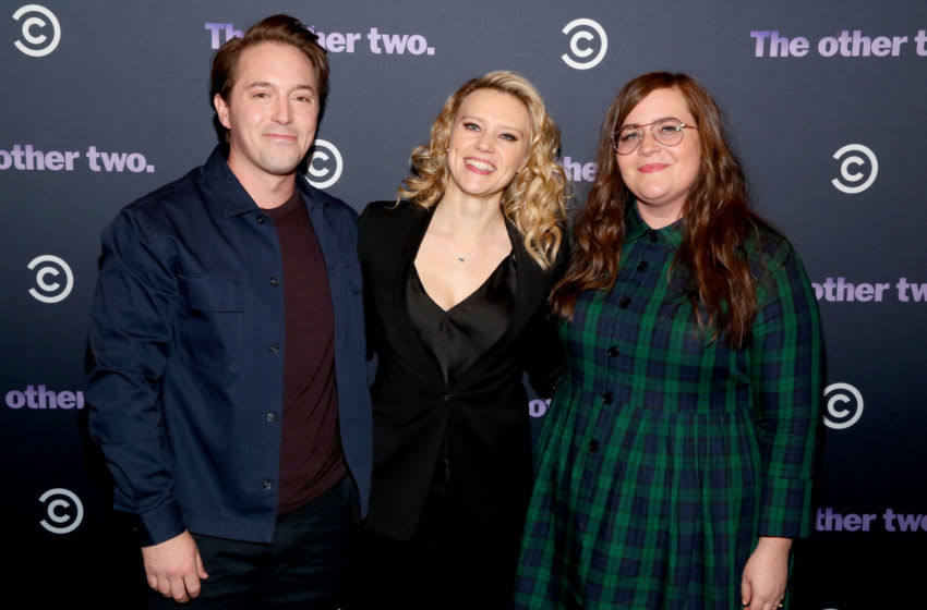 NEW YORK, NY - JANUARY 17: (L-R) Beck Bennett, Kate McKinnon and Aidy Bryant attend Comedy Central's 'The Other Two' series premiere party at Dream Hotel Downtown on January 17, 2019 in New York City. (Photo by Astrid Stawiarz/Getty Images for Comedy Central)