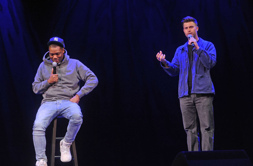 Michael Che and Colin Jost (Photo by Bobby Bank/Getty Images)