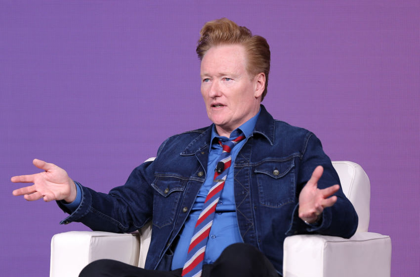 SANTA BARBARA, CALIFORNIA - SEPTEMBER 18: Conan O'Brien closes out day three of The Relevance Conference. The Relevance Conference, hosted by Xandr, AT&T's advanced advertising and analytics company, brings together advertising and media thought leaders to discuss the shifting relationship between consumers, brands and content. The event was held on September 18, 2019 at The Ritz-Carlton Bacara in Santa Barbara, CA. (Photo by Rich Polk/Getty Images for Xandr)