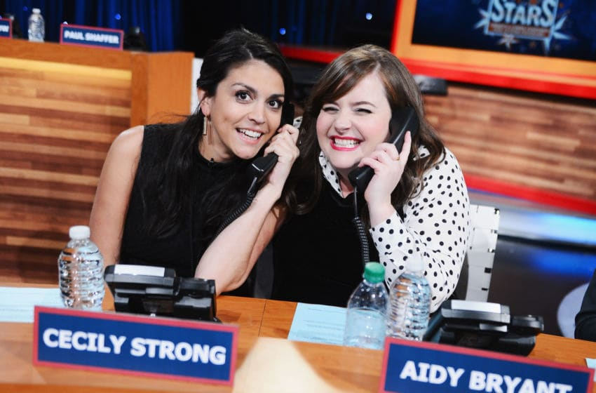 Cecily Strong and Aidy Bryant of Saturday Night Live (Photo by Stephen Lovekin/Getty Images for Comedy Central)