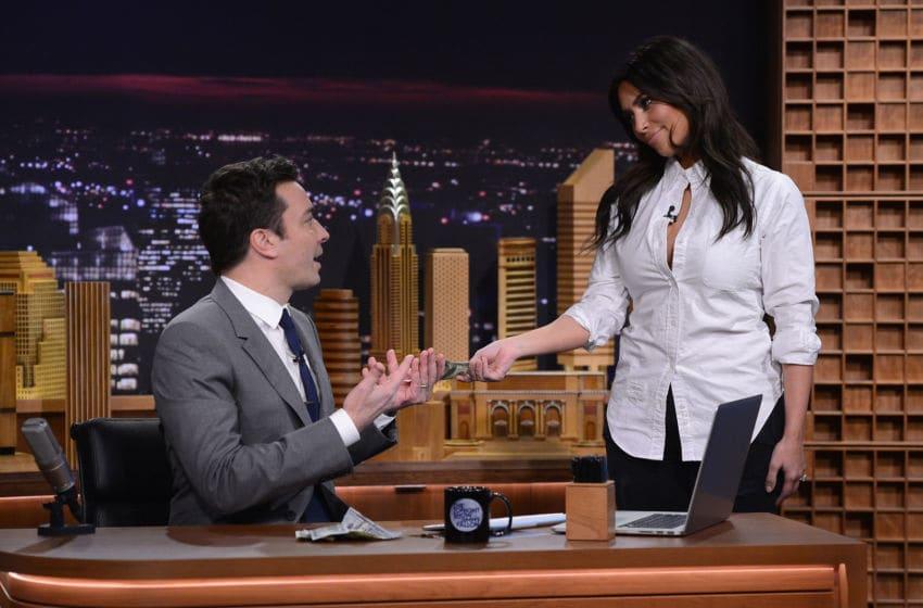 NEW YORK, NY - FEBRUARY 17: Kim Kardashian visits