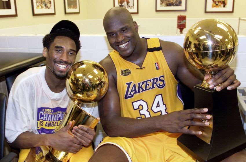 Kobe Bryant and Shaquille O'Neal (Photo by AFP/AFP via Getty Images)