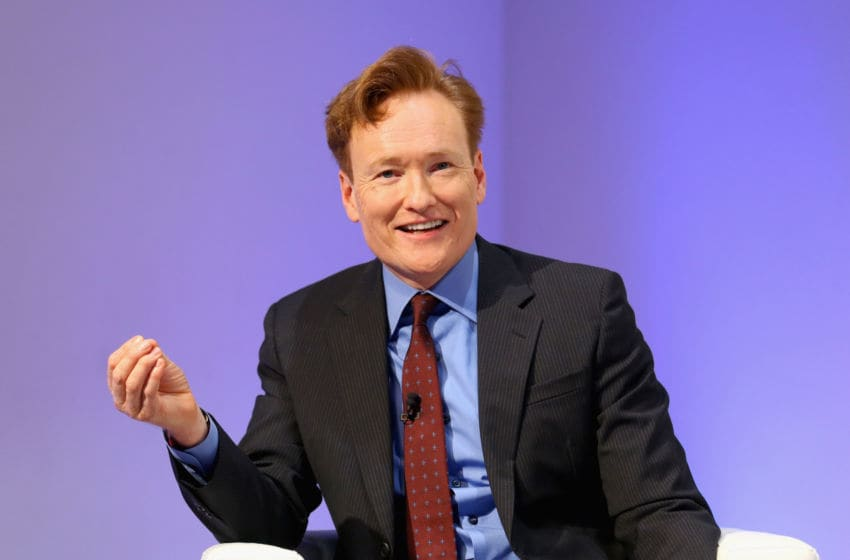 NEW YORK, NY - MAY 17: Comedian Conan O'Brien speaks onstage during TBS Night Out at The New Museum on May 17, 2016 in New York City. (Photo by Paul Zimmerman/Getty Images for TBS)