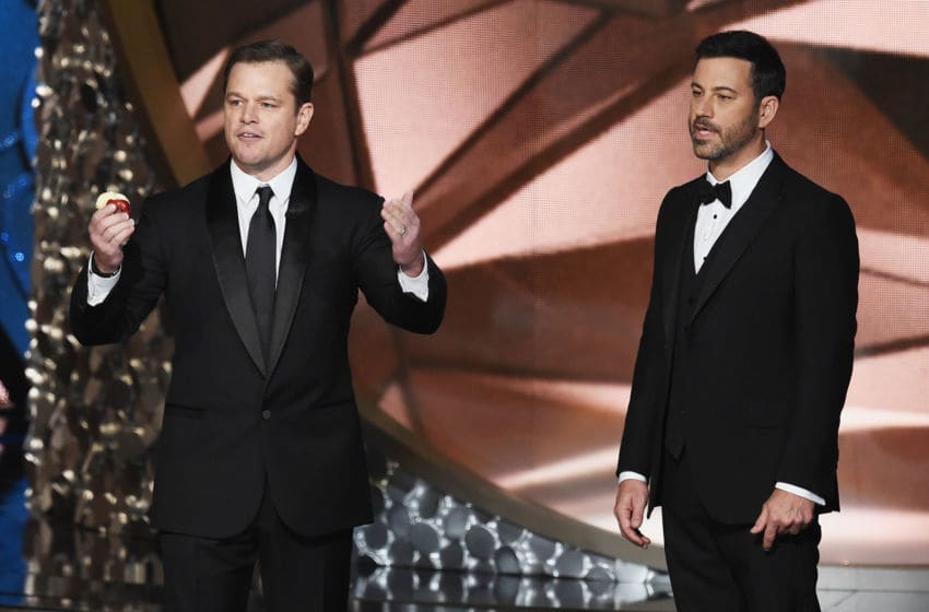 Matt Damon and Jimmy Kimmel (Photo by Kevin Winter/Getty Images)