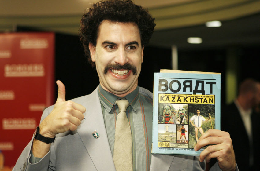 Borat Sagdiyev, played by Sacha Baron Cohen (Photo by Vince Bucci/Getty Images)