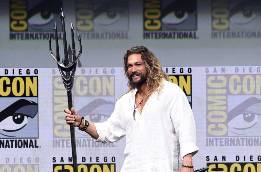 SAN DIEGO, CA - JULY 22: Actor Jason Momoa attends the Warner Bros. Pictures