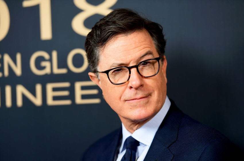 LOS ANGELES, CA - JANUARY 06: Stephen Colbert arrives for the Showtime Golden Globe Nominees Celebration at Sunset Tower on January 6, 2018 in Los Angeles, California. (Photo by Matt Winkelmeyer/Getty Images)