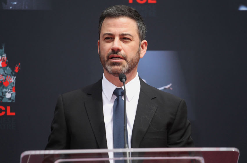 HOLLYWOOD, CA - MARCH 07: Jimmy Kimmel attends the Lionel Richie Hand And Footprint Ceremony at TCL Chinese Theatre on March 7, 2018 in Hollywood, California. (Photo by Tommaso Boddi/Getty Images)