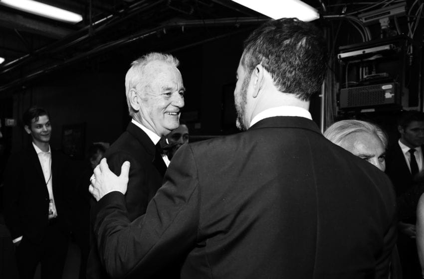 HOLLYWOOD, CA - JUNE 07: (EDITORS NOTE: Image has been shot in black and white. Color version not available.) Bill Murray and Jimmy Kimmel attend the American Film Institute's 46th Life Achievement Award Gala Tribute to George Clooney at Dolby Theatre on June 7, 2018 in Hollywood, California. 390073 (Photo by Emma McIntyre/Getty Images for Turner)