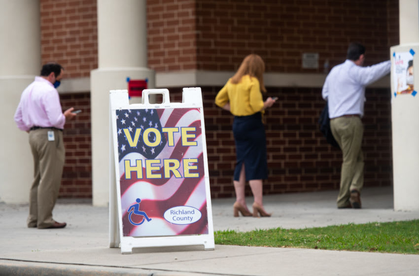 Voters in Columbia, South Carolina (Photo by Sean Rayford/Getty Images)