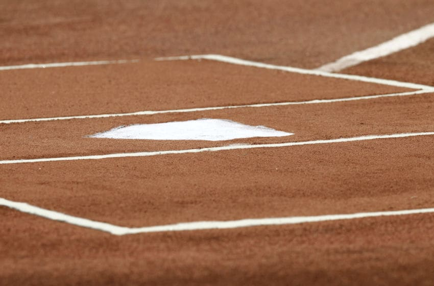 BOSTON, MA - JUNE 24: Home plate and the batters box are seen before the interleague game between the Boston Red Sox and the Atlanta Braves at Fenway Park on June 23, 2012 in Boston, Massachusetts. (Photo by Winslow Townson/Getty Images)
