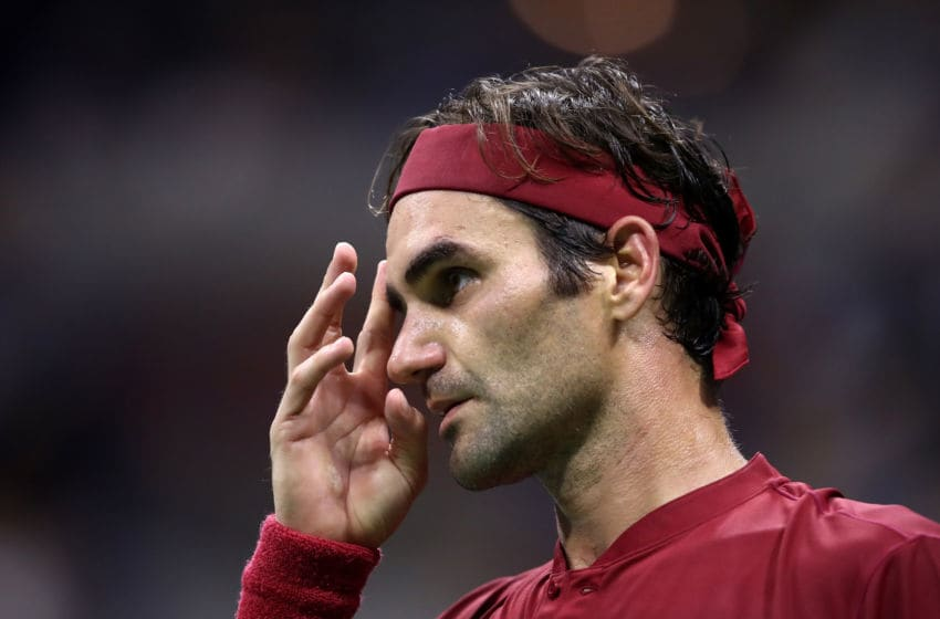NEW YORK, NY - SEPTEMBER 03: Roger Federer of Switzerland during the men's singles fourth round match against John Milman of Australia on Day Eight of the 2018 US Open at the USTA Billie Jean King National Tennis Center on September 3, 2018 in the Flushing neighborhood of the Queens borough of New York City. (Photo by Julian Finney/Getty Images)