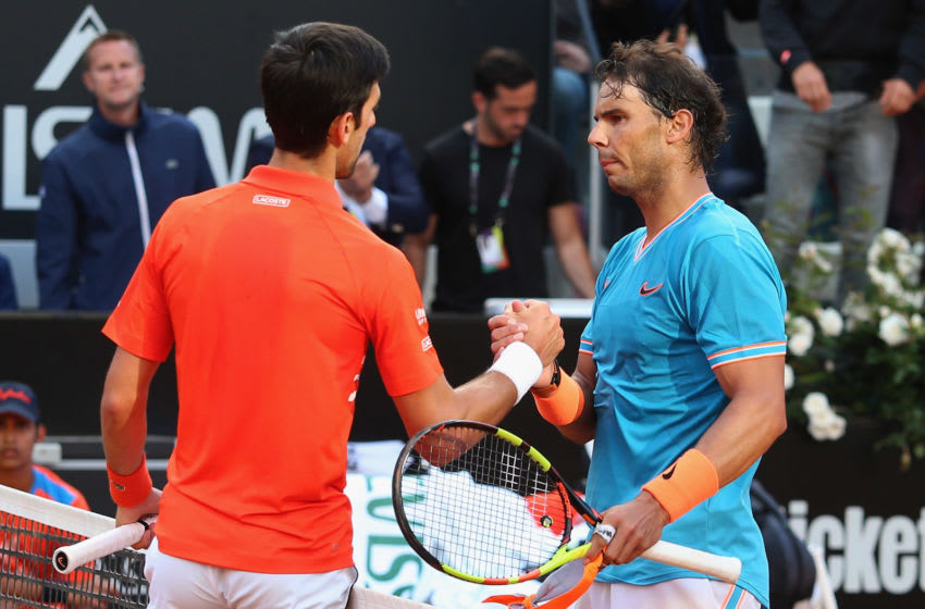 Novak Djokovic and Rafael Nadal (Photo by Paolo Bruno/Getty Images)