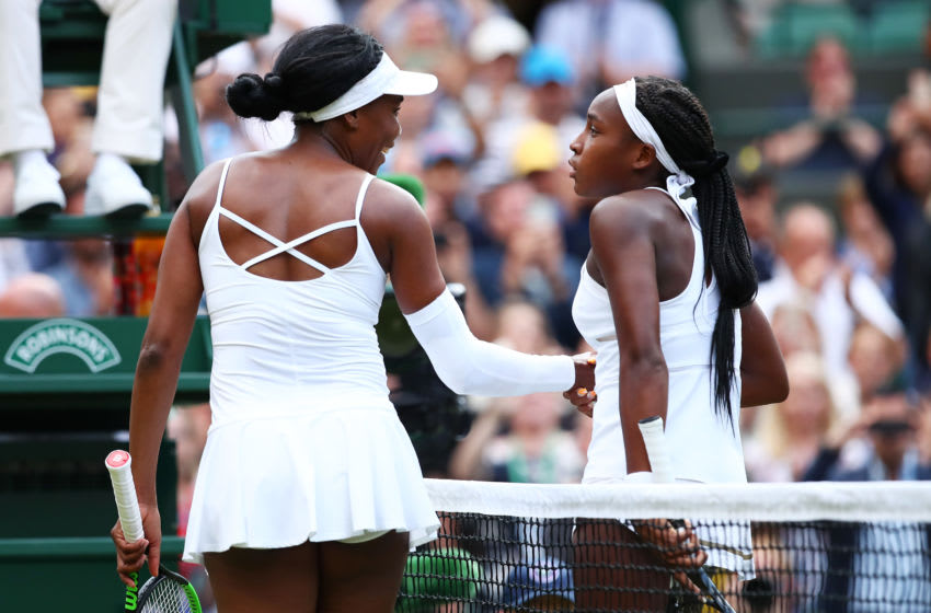 Coco Gauff and Venus Williams will play at the Australian Open (Photo by Clive Brunskill/Getty Images)