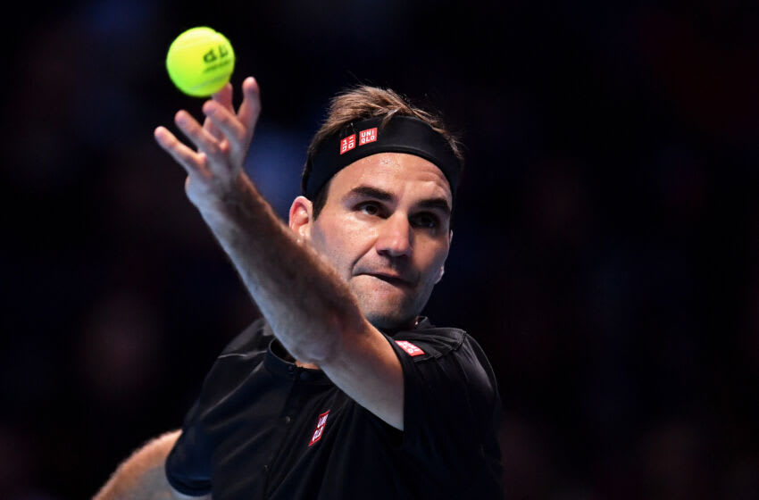 Tennis player Roger Federer of Switzerland (Photo by Justin Setterfield/Getty Images)