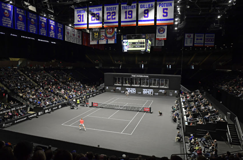 UNIONDALE, NEW YORK - FEBRUARY 16: A general view during the Men's Singles final match between Andreas Seppi of Italy and Kyle Edmund of Great Britain on day seven of the 2020 NY Open at Nassau Veterans Memorial Coliseum on February 16, 2020 in Uniondale, New York. (Photo by Steven Ryan/Getty Images)