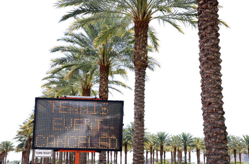 INDIAN WELLS, CALIFORNIA - MARCH 09: A