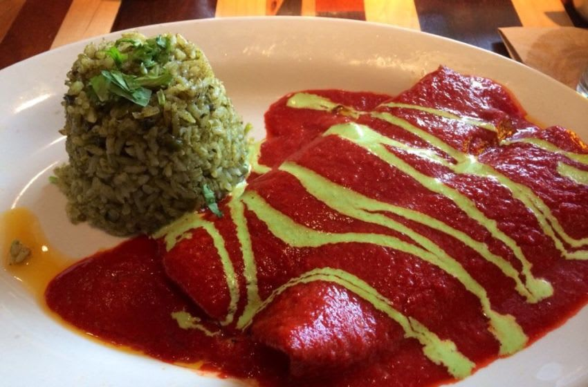 Enchilada rojas from Mesero. Photo Credit: Yelp