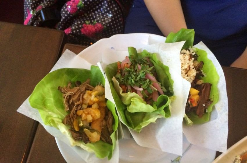 A trio of tacos from Taco Guild. Photo Credit: Yelp