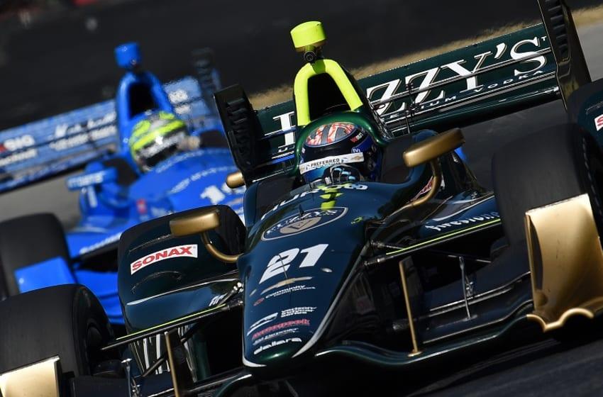 JR Hildebrand drives the No. 21 Ed Carpenter Racing Chevrolet. Photo Credit: Chris Owens/Courtesy of IndyCar