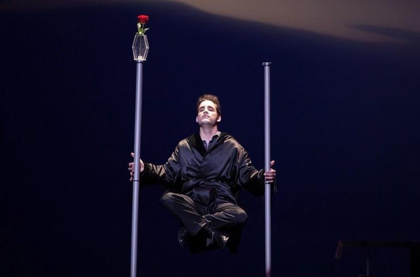 Michael Grandinetti performs his mid-air levitation illusion. Photo Credit: Courtesy of Michael Grandinetti.