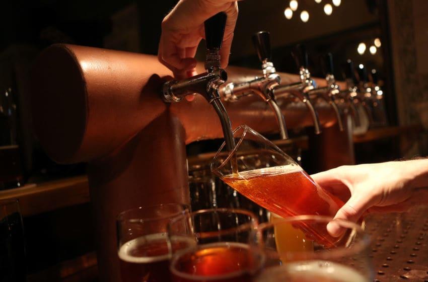 BERLIN, GERMANY - NOVEMBER 12: A bartender at Hops