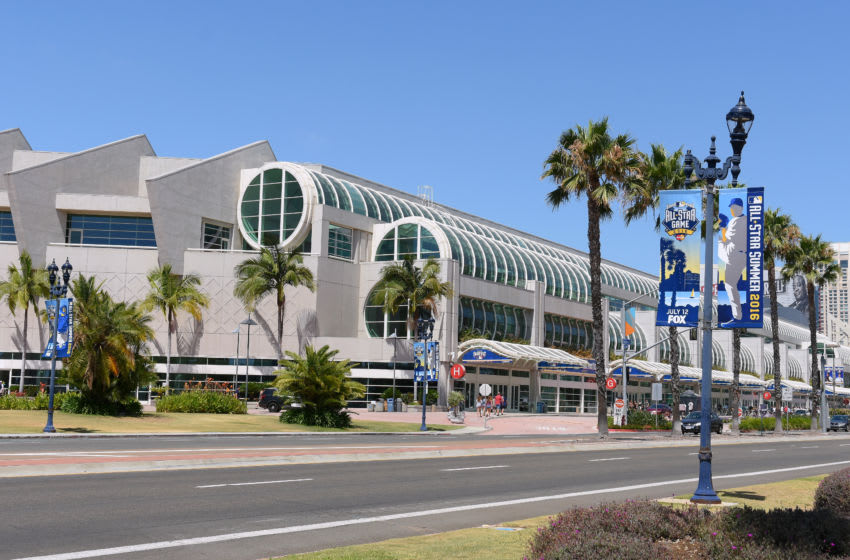 SAN DIEGO, CA - JULY 12: A general exterior view of the San Diego Convention Center during the MLB All-Star FanFest prior to the 87th MLB All-Star Game at PETCO Park on July 12, 2016 in San Diego, California. The American League defeated the National League 4-2. (Photo by Mark Cunningham/MLB Photos via Getty Images)
