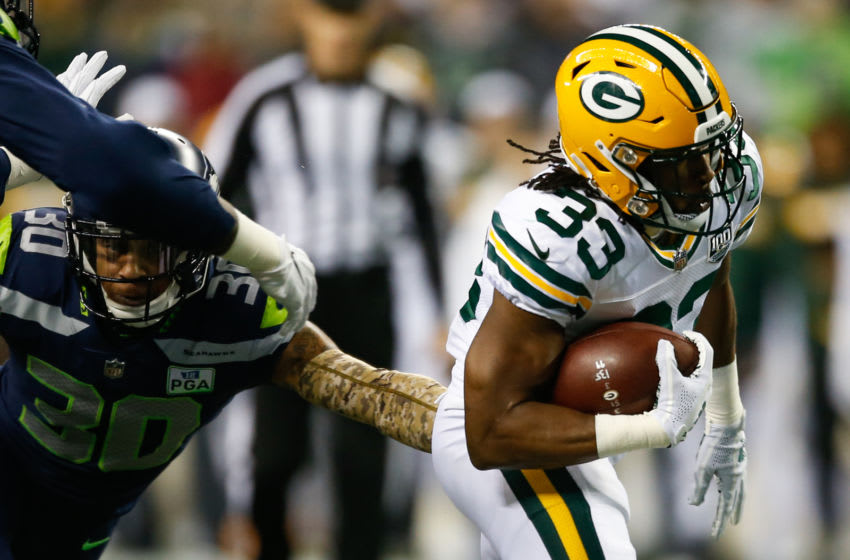 Green Bay Packers, Aaron Jones (Photo by Otto Greule Jr/Getty Images)