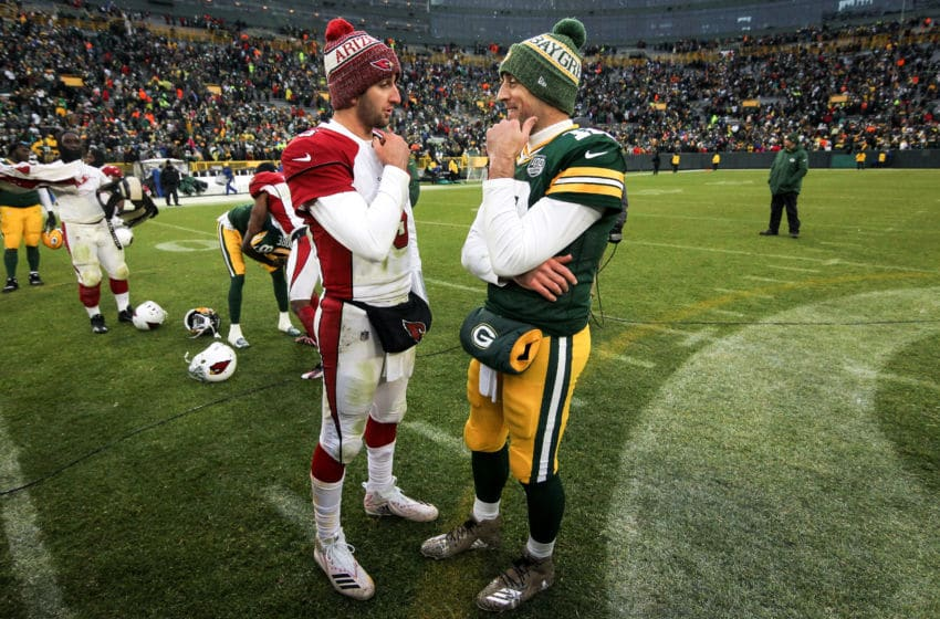 Josh Rosen, Aaron Rodgers (Photo by Dylan Buell/Getty Images)