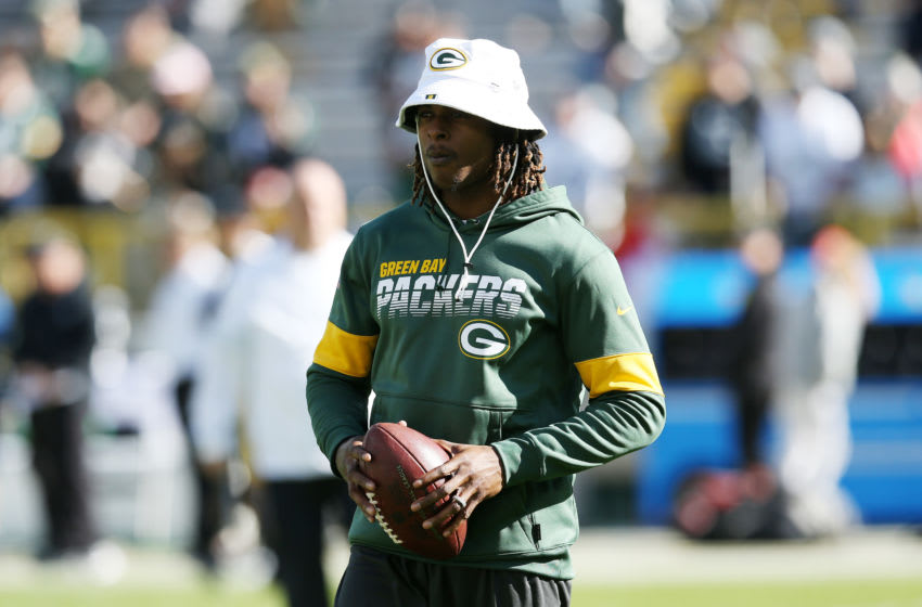 GREEN BAY, WISCONSIN - OCTOBER 20: Davante Adams #17 of the Green Bay Packers looks on in the game at Lambeau Field on October 20, 2019 in Green Bay, Wisconsin. (Photo by Dylan Buell/Getty Images)