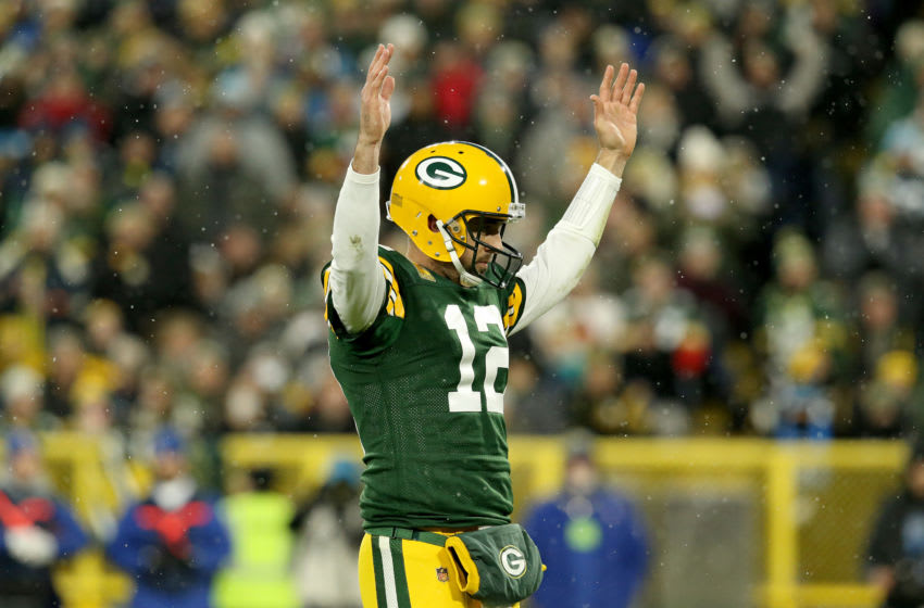 Green Bay Packers quarterback Aaron Rodgers (Photo by Dylan Buell/Getty Images)