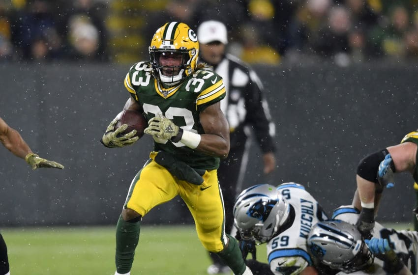 Green Bay Packers, Aaron Jones (Photo by Quinn Harris/Getty Images)