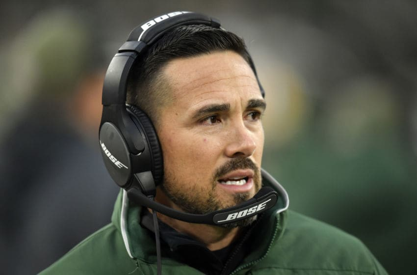 GREEN BAY, WISCONSIN - NOVEMBER 10: Head coach Matt LaFleur of the Green Bay Packers looks on in the first half against the Carolina Panthers at Lambeau Field on November 10, 2019 in Green Bay, Wisconsin. (Photo by Quinn Harris/Getty Images)