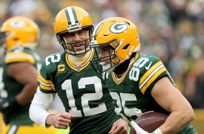Green Bay Packers, Aaron Rodgers, Robert Tonyan (Photo by Dylan Buell/Getty Images)
