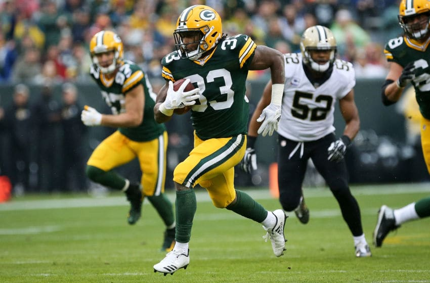 Green Bay Packers, Aaron Jones (Photo by Dylan Buell/Getty Images)