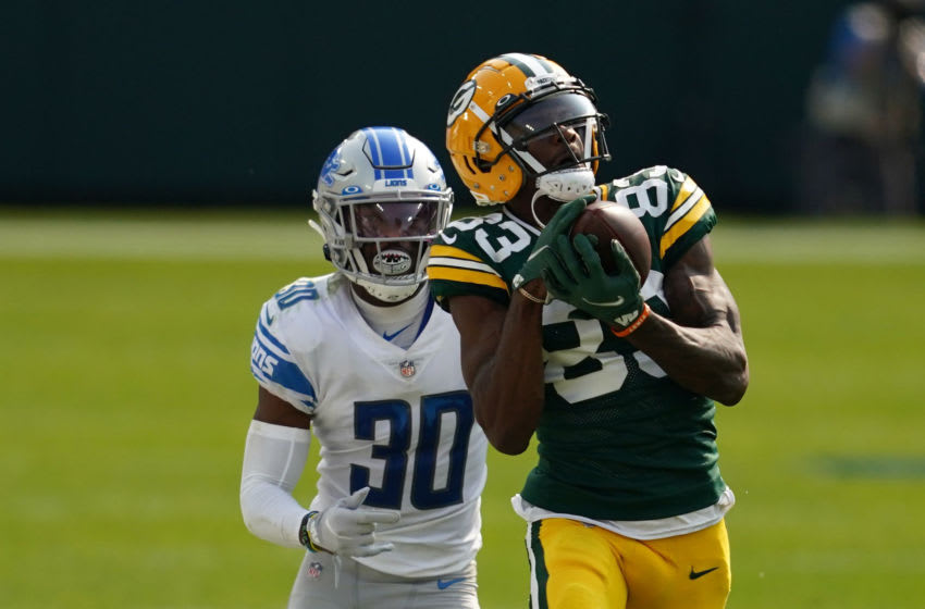 Green Bay Packers, Marquez Valdes-Scantling (Photo by Stacy Revere/Getty Images)