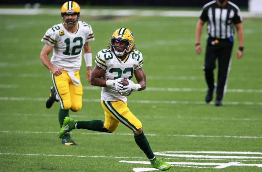 Green Bay Packers, Aaron Jones (Photo by Sean Gardner/Getty Images)